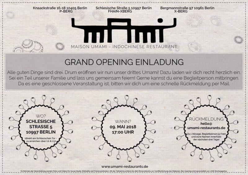 Das GRAND OPENING vom Maison Umami - ZEITBLATT Das andere Magazin!